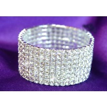 Браслет 8 Row Bridal Fashion Clear Crystal Rhinestone Bracelet SSB908