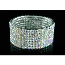Браслет 8 Row Bridal AB Clear Crystal Rhinestone Bracelet SB908AB