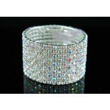 Браслет 10 Row Stretch Bridal Clear AB Crystal Bracelet SB910AB