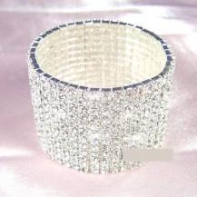 Браслет 12 Row Stretch Bridal Clear Crystal Rhinestone Bracelet SSB912