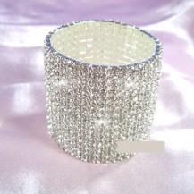Браслет 15 Row Stretch Bridal Clear Crystal Rhinestone Bracelet SSB915