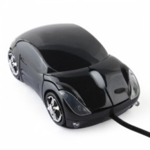 USB мышка машинка черная