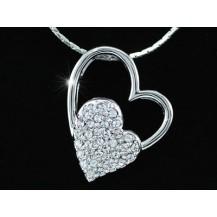 Кулон Heart Pendant Necklace use Swarovski Crystal SN081