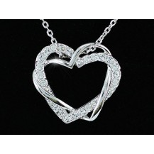 Кулон Heart Pendant 18K Necklace use Swarovski Crystal SN161