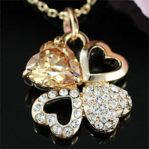 Кулон Heart Rose Gold Plated 4 Carat Sapphire Necklace SN172