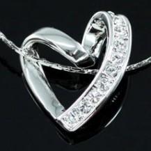 Кулон Heart Pendant Necklace use Swarovski Crystal SN195