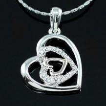 Кулон Heart Pendant Necklace use Swarovski Crystal SN199
