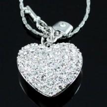 Кулон Heart Pendant Necklace use Swarovski Crystal SN208