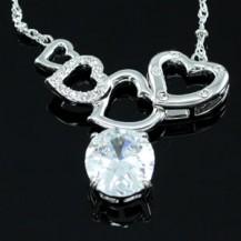 Кулон Heart Necklace use Swarovski Crystal SN232