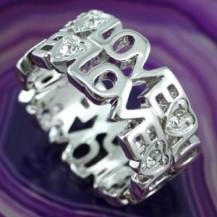 Кольцо Love Heart Ring use Swarovski Crystal SR062