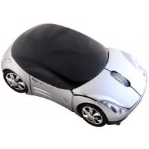 USB мышка машинка серебристая