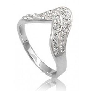 Кольцо TN149. Серебро 925. Swarovski Crystals (Размер 16)