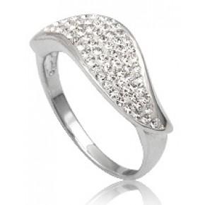 Кольцо TN150. Серебро 925. Swarovski Crystals (Размер 18)