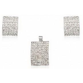 Набор TN1024. Серебро 925. Swarovski crystals