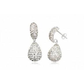 Серьги TN846. Серебро 925. Swarovski crystals