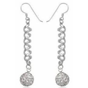Серьги TN903 Серебро 925 Swarovski Crystals