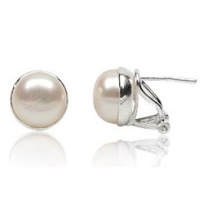 Серебряные серьги TN920 с натуральным жемчугом
