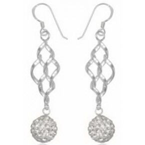 Серьги TN926 Серебро 925 Swarovski Crystals