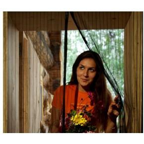 Антимоскитная сетка штора на дверь на магнитах Magic mesh с рисунком (210х90)