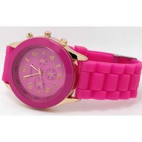 Часы наручные женские GENEVA Темно-розовые