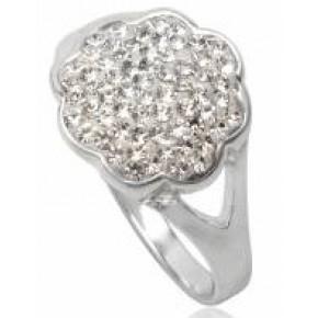 Кольцо TN256.Серебро 925 с кристаллами Swarovski. Размер 16