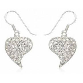 Серьги TN382.Серебро 925 с кристаллами Swarovski