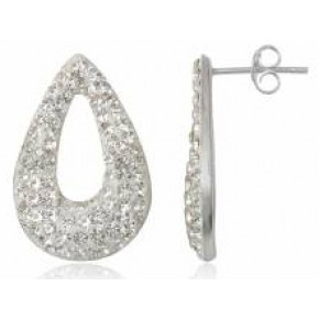 Серьги TN407. Серебро 925. Swarovski Crystals