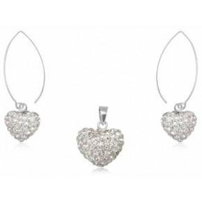 Набор TN447. Серебро 925. Swarovski Crystals