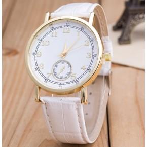 Часы Женева Geneva Питон белый ремешок