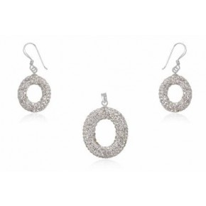 Набор TN596. Серебро 925. Swarovski crystals