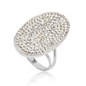 Кольцо TN625. Серебро 925. Swarovski crystals, размер 18