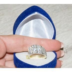 Кольцо TN681. Серебро 925. Swarovski crystals, размер 17