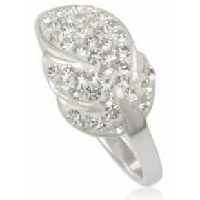 Кольцо TN683. Серебро 925. Swarovski crystals, размер 17,18