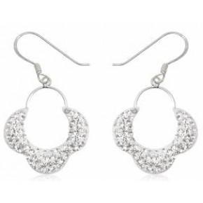 Серьги TN695. Серебро 925. Swarovski Crystals