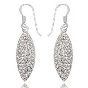 Серьги TN701. Серебро 925. Swarovski Crystals