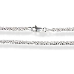 Цепочка 40см. Серебро 925 (плетение - канат) Ширина 1,7мм
