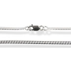 Цепочка 45см. Серебро 925 (плетение круглое - змея) Ширина 1,8мм