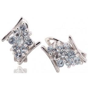 Кольцо TN148. Серебро 925. Swarovski Crystals (Размер 17)
