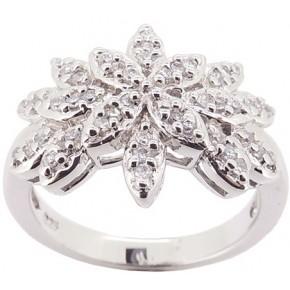 Кольцо Серебро 925 Цирконы класса ААА (BS42) Размер 17