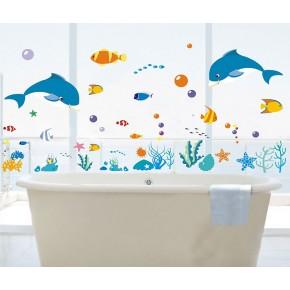 Интерьерная наклейка на стену Рыбки Океан XY8047