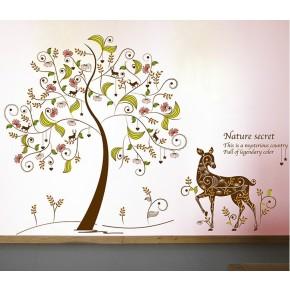 Интерьерная наклейка на стену Дерево XL8152