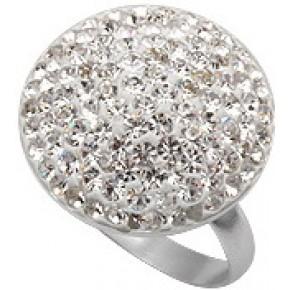 Кольцо TN753. Серебро 925. Swarovski crystals, размер 17,18