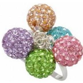 Кольцо TN756. Серебро 925. Swarovski crystals, размер 17