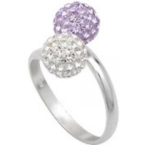 Кольцо TN757. Серебро 925. Swarovski crystals, размер 19