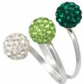 Кольцо TN758. Серебро 925. Swarovski crystals, размер 17