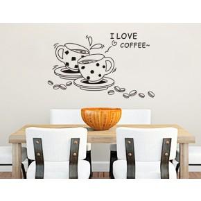 Интерьерная наклейка на стену Кофе (JM8268)