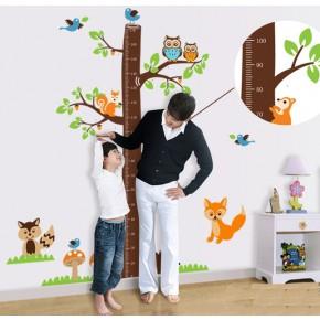 Интерьерная наклейка на стену Ростомер Лесные Звери AY221AB