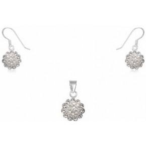 Набор TN599. Серебро 925. Swarovski crystals