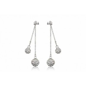 Серьги TN835. Серебро 925. Swarovski crystals