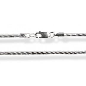 Серебряная цепочка 50 см (плетение круглое - Змея) Ширина 1мм